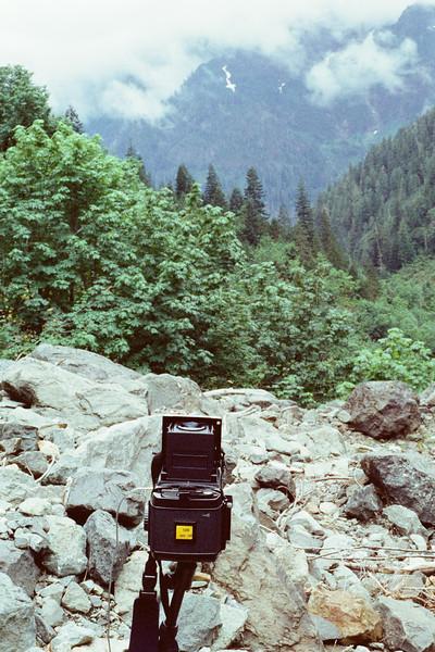 Mamiya RB67 Pro S on trail