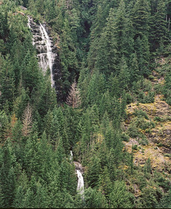 Waterfall across the valley