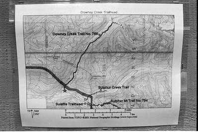 Downey Creek Trailhead Map