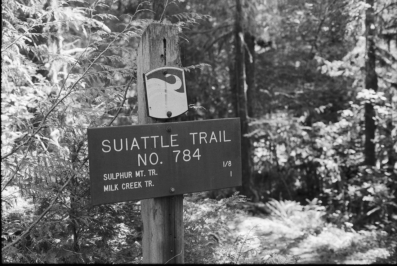 Suiattle Trail Sign