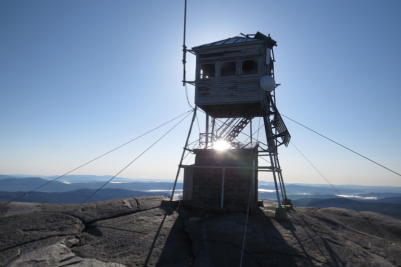 Summit tower, sadly with a broken window
