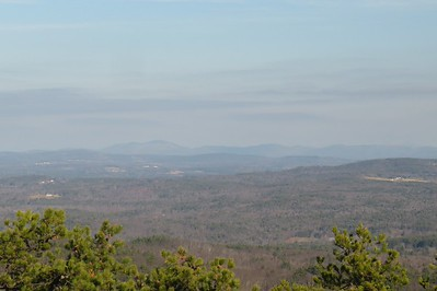 Kearsarge and Ragged  Kinda hazy today
