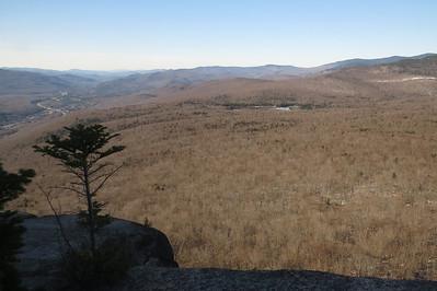Cushman's long ridge in the back