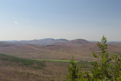 Smarts, Cube and Piermont  And very green farmland  Ascutney to the right of Piermont