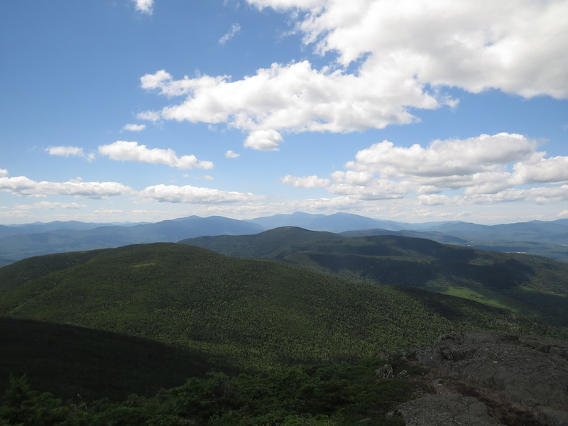 Looking south, Carlo and Success nearby  Kearsarge North, Baldfaces and Chocorua to the right of the Carters