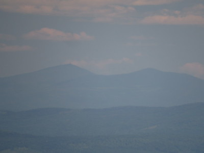 A distant Sugarloaf and Spaulding