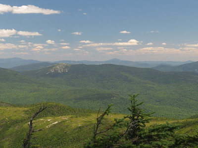 Sunday River Whitecap, a big ugly windfarm and Mt  Blue in the distance Jackson at far left
