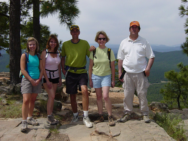 Meet the hikers: Cathy, Coleen, Alvan, Astrid, and Todd
