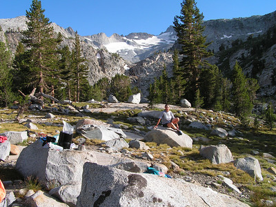 Day 1 - We made it to camp - our first 10 miles, just below Donahue Pass!