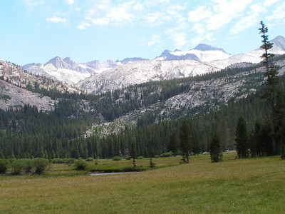 Day 1 - Looking at Donahue Pass & Mt. Lyell (highest peak in Yosemite)