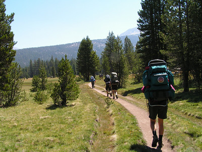 Day 1 - Hiking amongst Sierra Clubbers - pretty busy area, that Lyell Canyon!