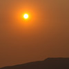 Sun behind wildfire smoke