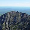 Pamola Peak, Chimney Peak, and The Knife Edge (L-R) seen from Baxter Peak (summit of Katahdin)