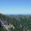 The Cathedral Trail (our route up Katahdin) can be seen as a thin thread in the bottom center of the frame