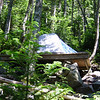 Tent platforms are necessary due to the steep terrain around Liberty Spring