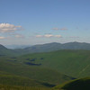 Mt Lafayette, North Twin, and South Twin...Owl's Head closer on right...view from Mt Liberty