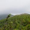 Lone hiker on Little Haystack
