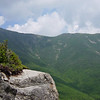 Sky is clearing (it figures) along Franconia Ridge