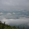 Walking along Franconia Ridge, looking east down into the Pemi