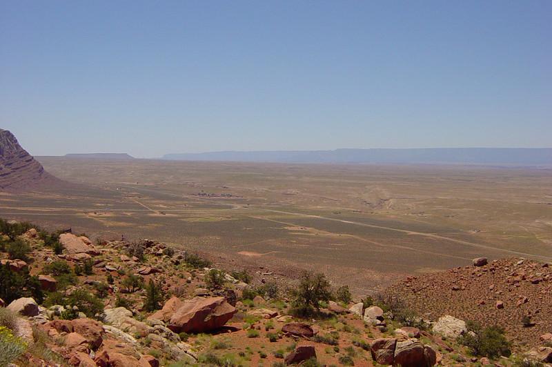 Driving from Grand Canyon toward Utah