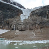 To get a sense of how big Angel Glacier is, look at the people on the far end of the lake