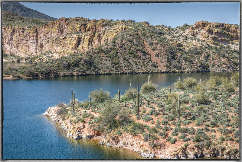 Saguaro Lake From Butcher Jones Trail