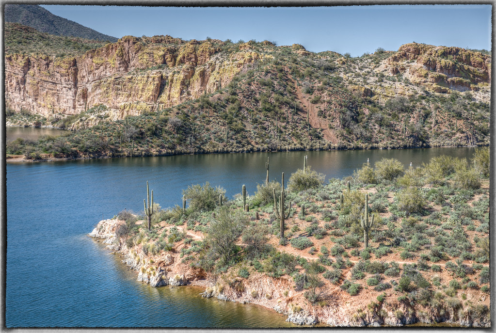 Saguaro Lake From Butcher Jones Trail