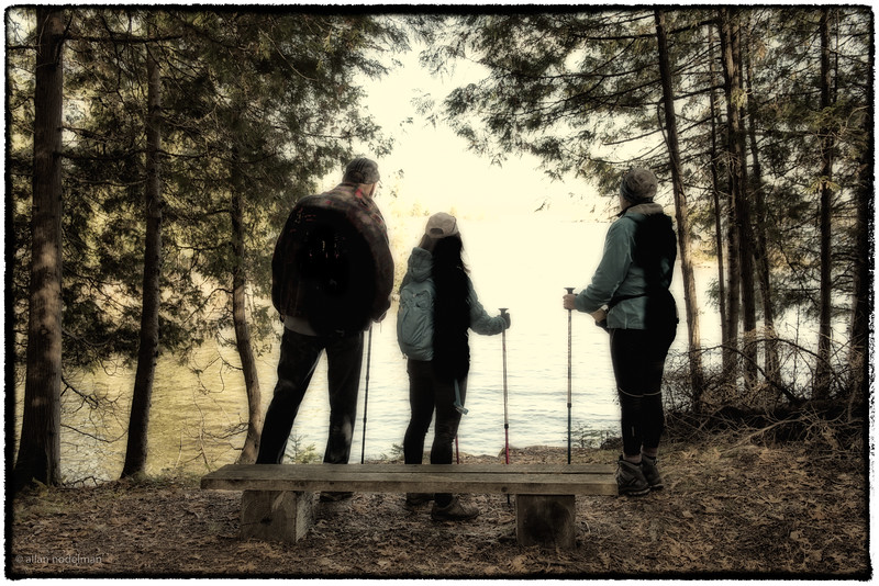 Gary, Wendi and Sharon Looking Out on the Ottawa River