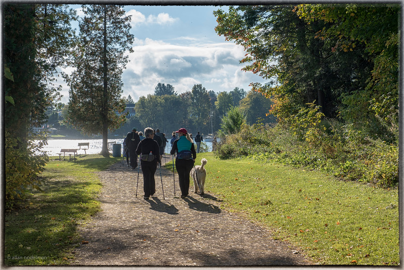 Walking Towards the Madawaska Riverr