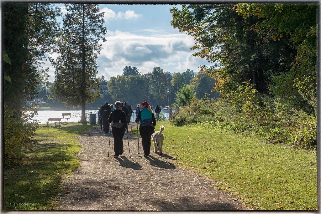Walking Towards the Madawaska Riverr