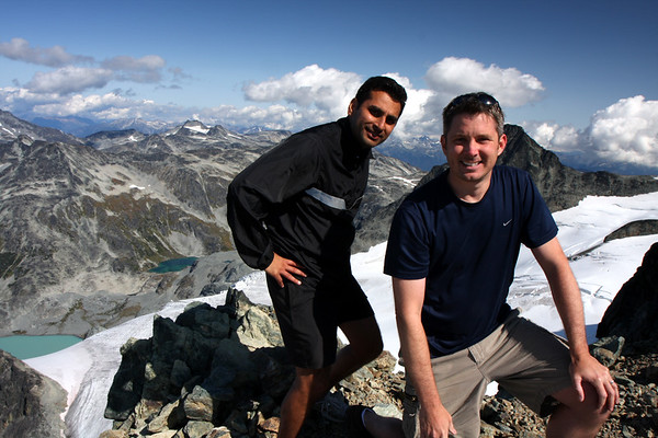 Neel and I at the West summit. This was not the real summit however, and it took a bit of convincing Neel that we must continue on and up to get the real summit of Mt. Cook.