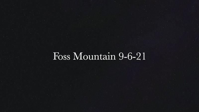 Foss Mountain 9-6-21