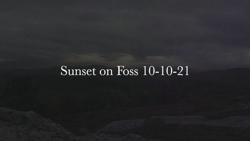 Sunset on Foss 10-10-21
