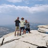 Standing on top of Half Dome 1:26 pm.
