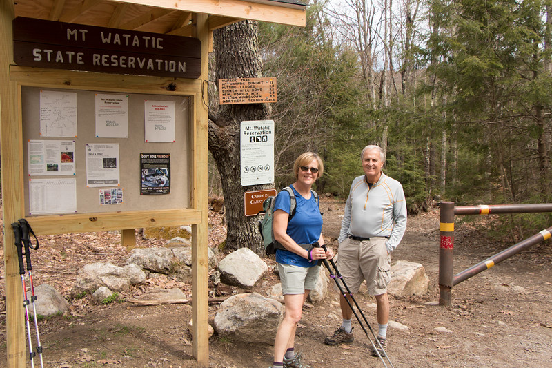 Anne and Jerry at the Mt Watatic Trailhead in Ashburnham, MA