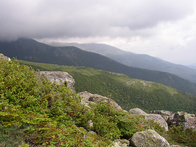 Mt. Washington\'s ridges peaking out from the clouds