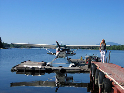 We parked at Abol Bridge and flew to the start of our hike at Spectacle Pond