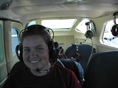 In the cockpit of the plane (photo courtesy of Tramper Al.)