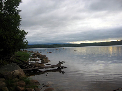 Katahdin is over there in the clouds