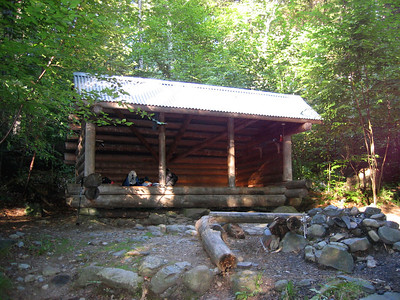 After 10.4 miles of hiking, we stopped here at Wilson Valley Lean-to for the night