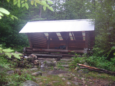 Day five: I hiked 19.5 miles and only took a picture of Potaywadjo Lean-to, where I stopped for the night.