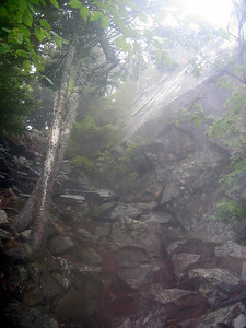 Day 3: A wet talus slope on Chairback Mtn... it rained all day and this is the only picture I took in 10 miles of hiking