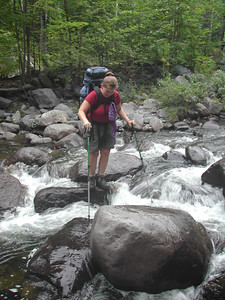 I could never get across streams without getting my feet wet. (photo courtesy of Tramper Al.)