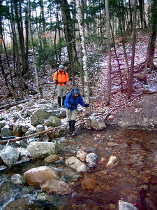 MtnPa and MtnMama crossing a brook