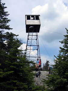 Atop Mt. Snow, the fire tower cab was tilting and looked very unsafe