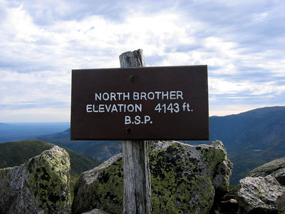 ** Finishing the NE67 list on North Brother: Sept. 25 **