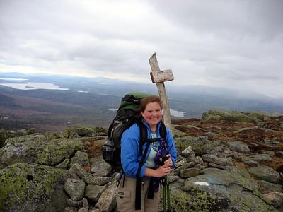 Me on the the horn, my 57th peak on the NE67 list