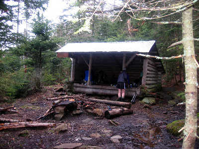 Poplar Ridge Lean-to, our home for the night