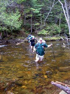 We had to wade across Orbeton Stream