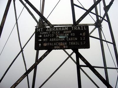 Mt Abraham's fire tower -- it was my 58th peak on the NE67 list